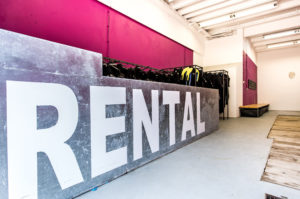 Ausrüstungsraum Rental Station